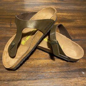 Birkenstock gizeh thong sandals graceful toffee 8